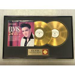 """Vergulde gouden plaat - Elvis Presley """"24 KARAT HITS"""""""