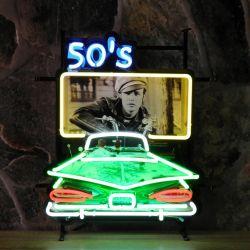 50's Drive In neon met achterplaat