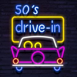 Neon 50'S DRIVE IN