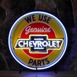 Chevrolet Parts neon met achterplaat