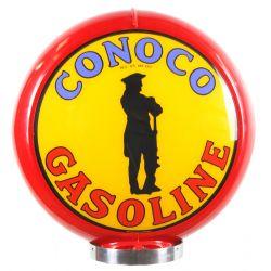 Benzinepomp bol Conoco Gasoline red