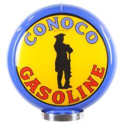 Benzinepomp bol Conoco Gasoline Blue