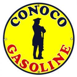 Emaille bord Conoco Gasoline