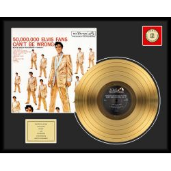 "Vergulde gouden plaat - Elvis Presley ""50 Million Fans"""