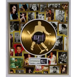 "Vergulde gouden plaat - Elvis Presley ""75th birthday"""