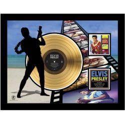 """Vergulde gouden plaat - Elvis Presley """"Blue Hawaï Etched"""""""