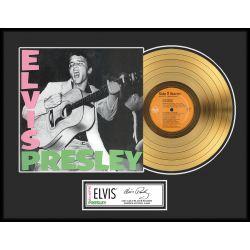 "Vergulde gouden plaat - Elvis Presley ""Gold LP LE 1000"""