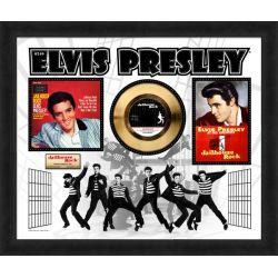 "Vergulde gouden plaat  - Elvis Presley ""Jailhouse Rock"""