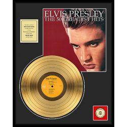 "Vergulde gouden plaat - Elvis Presley ""The 50 Greatest Hits"""