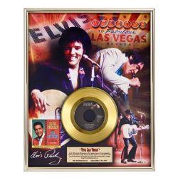 """Vergulde gouden plaat - Elvis Presley """"Viva Las Vegas"""""""