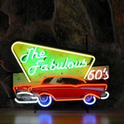 Fabulous 50's neon met achterplaat