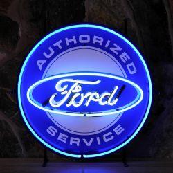 Ford Service neon met achterplaat