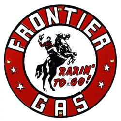 Emaille bord Frontier Gas