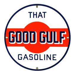 Emaille bord Gulf Gasoline