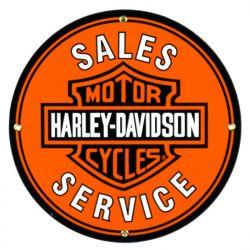 Emaille bord Harley Davidson