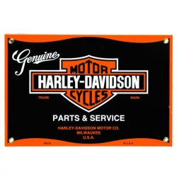 Emaille bord Harley Parts