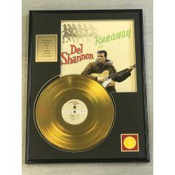"""Vergulde gouden plaat - DEL SHANNON """"RUNAWAY"""""""