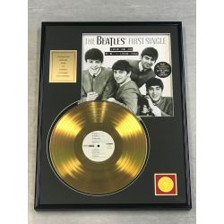 "Vergulde gouden plaat  - THE BEATLES ""FIRST SINGLE"""