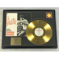 "Vergulde gouden plaat - FRANK SINATRA ""SWINGIN' SESSION"""