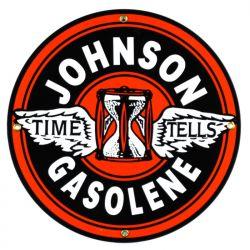 Emaille bord Johnson Gasolene