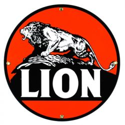 Emaille bord Lion