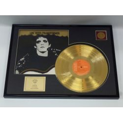 "Vergulde gouden plaat - Lou Reed  ""Transformer"""