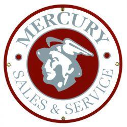Emaille bord Mercury