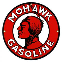 Emaille bord Mohawk Gasoline