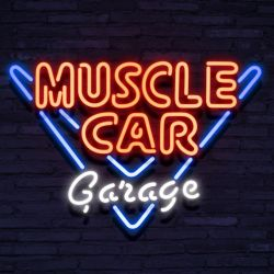 Neon MUSCLE CAR GARAGE