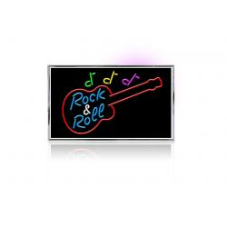 Neon Rock and roll guitar