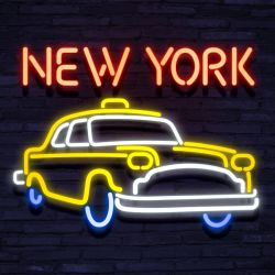Neon New York Cab
