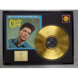 "Vergulde gouden plaat - Cliff Richard ""THE CLIFF RICHARD STORY"""