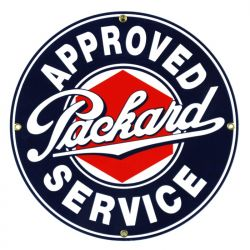 Emaille bord Packard Service