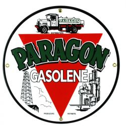 Emaille bord Paragon Gasolene