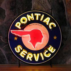 Pontiac neon met achterplaat