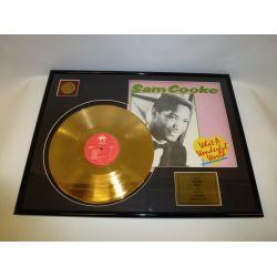 "Vergulde gouden plaat - Sam Cooke ""What A Wonderful World"""
