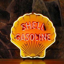 Shell neon met achterplaat