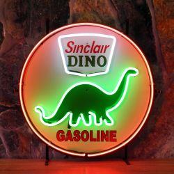 Sinclair neon met achterplaat