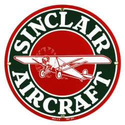 Emaille bord Sinclair Aircraft