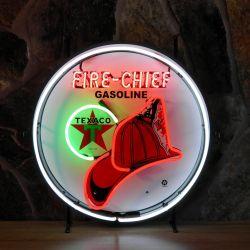Texaco Firechief neon met achterplaat