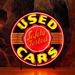 Used Cars neon met achterplaat