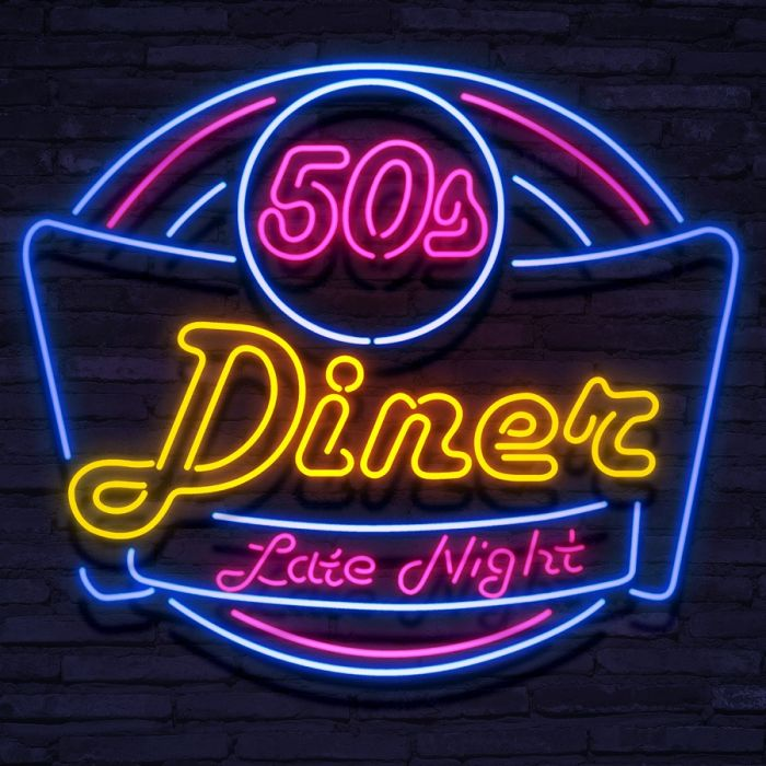 Neon Diner Late Night