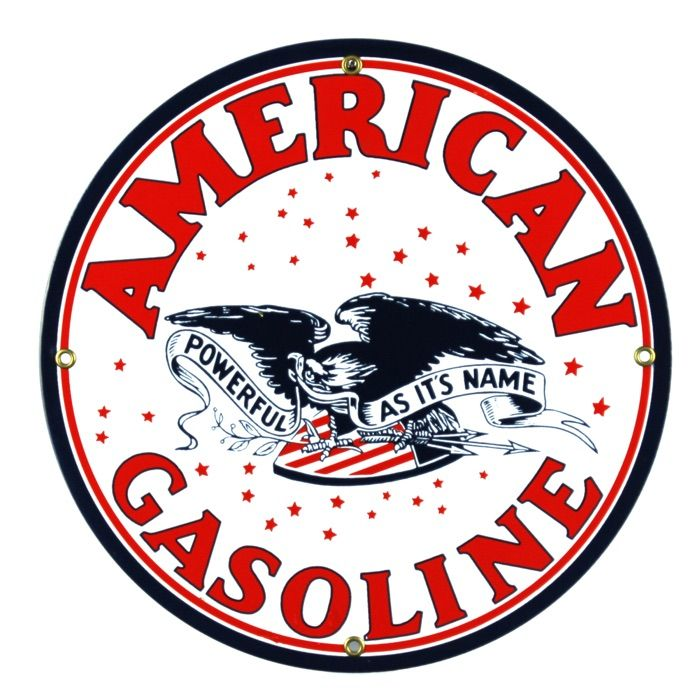 Emaille bord American Gasoline