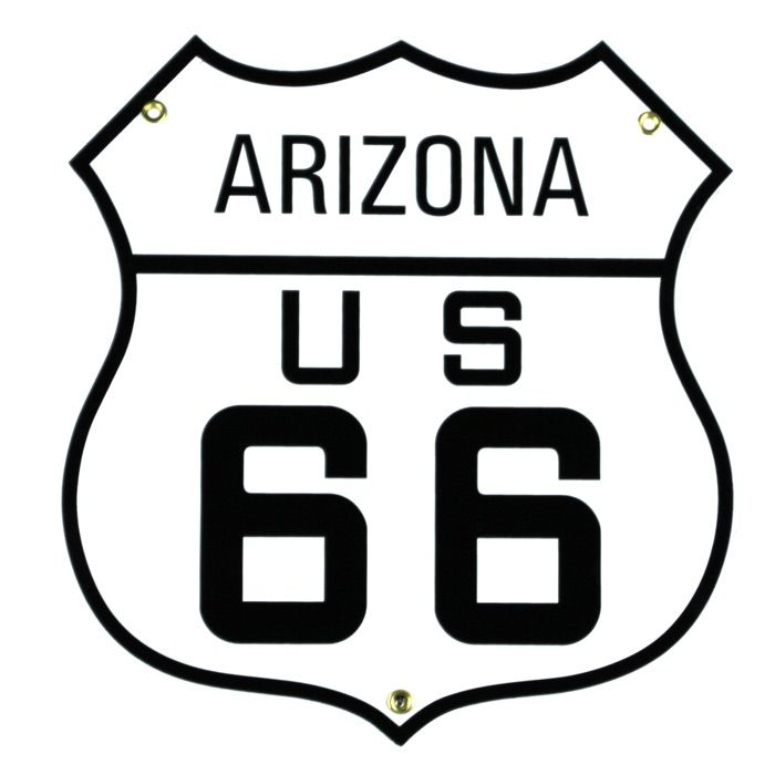 Emaille bord Arizona US 66