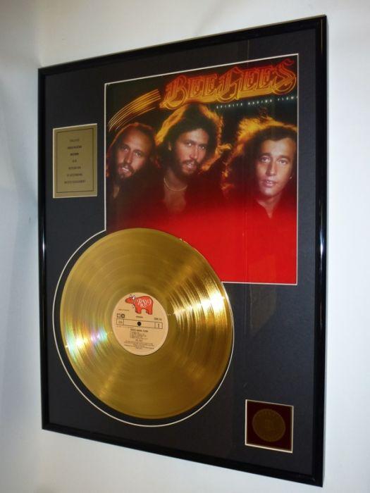 "Vergulde gouden plaat  - Bee Gees  ""Spirits Having Flown"""