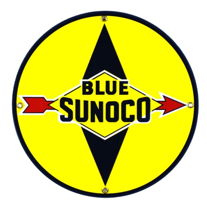 Emaille bord Blue Sunoco