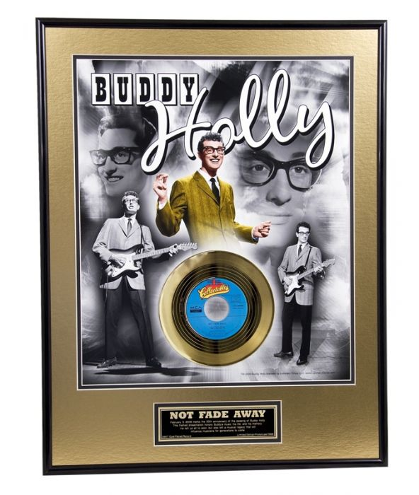 "Vergulde gouden plaat - Buddy Holly ""Not Fade Away"""