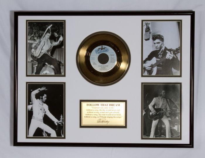 """Vergulde gouden plaat - Elvis Presley """"Follow That Dream"""""""