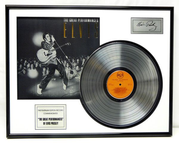 """Vergulde platinum plaat - Elvis Presley """"Great Perfomances"""""""