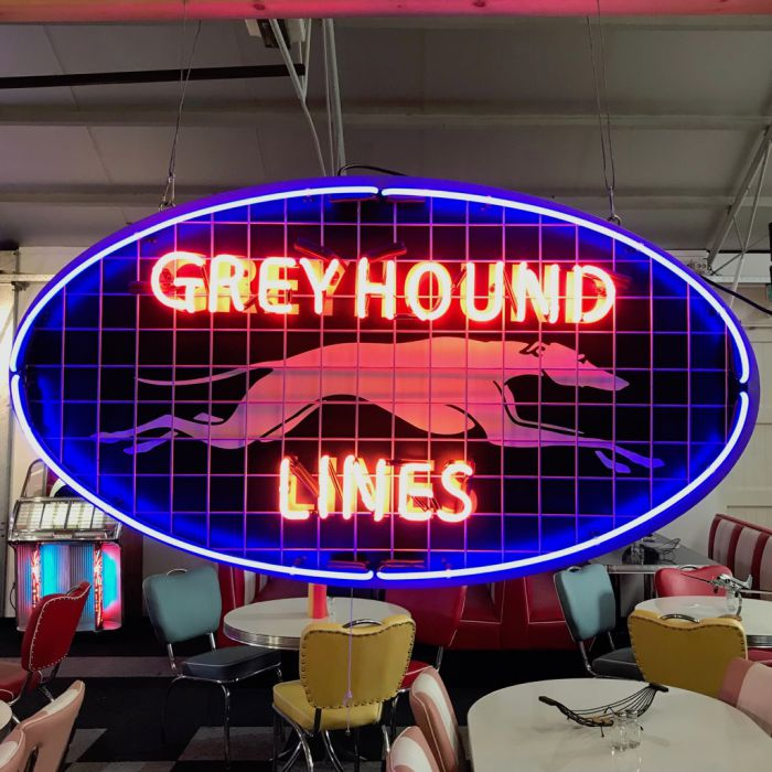 Greyhound Lines Neon